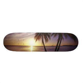Negril、ジャマイカ3のビーチ 18.4cm ミニスケートボードデッキ