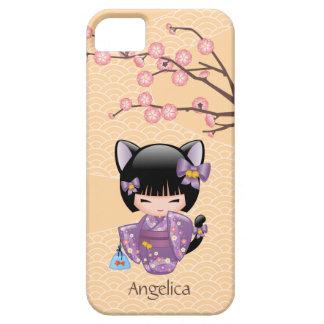 Neko Kokeshiの人形-猫耳の芸者女の子 iPhone SE/5/5s ケース