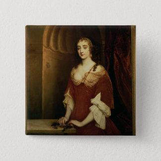 Nell Gwynne (1650-87年)のありそうなポートレート、mistre 5.1cm 正方形バッジ