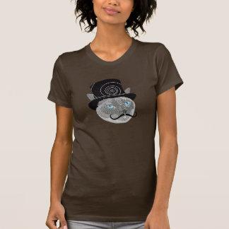 Nemo著髭のシルクハット猫 Tシャツ