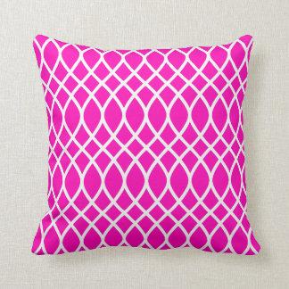 Neon Pink Trellis Pattern クッション