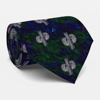 Nephrologistのタイのユニークでアートなデザインの青緑 カスタムタイ