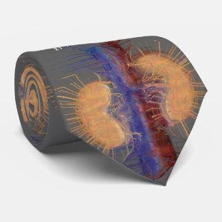 Nephrologistのタイのユニークでアートな腎臓のデザインの灰色 オリジナルネクタイ