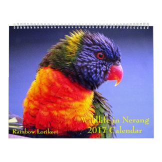 Nerang 2017のカレンダーの野性生物 カレンダー