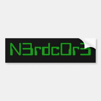 nerdcoreのバンパー2 バンパーステッカー
