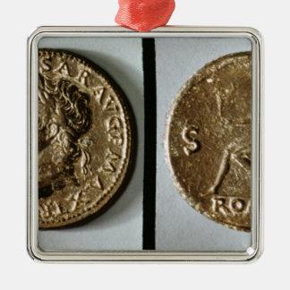 Neroを描写する硬貨 メタルオーナメント