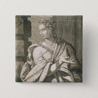 Nero (版木、銅版、版画)のStatilia Messalinaの第3妻 5.1cm 正方形バッジ