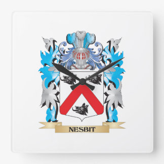 Nesbitの紋章付き外衣-家紋 スクエア壁時計
