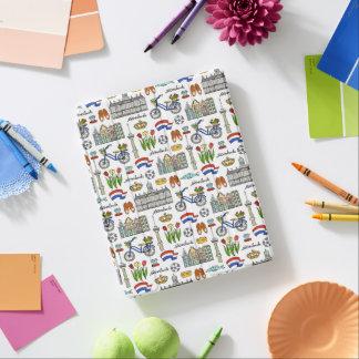 Netherlandの落書きパターン iPadスマートカバー