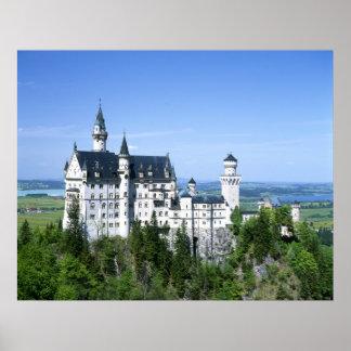 Neuchwansteinの城のババリア ポスター
