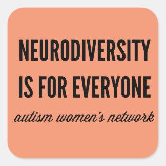Neurodiversityは皆のためステッカーです スクエアシール