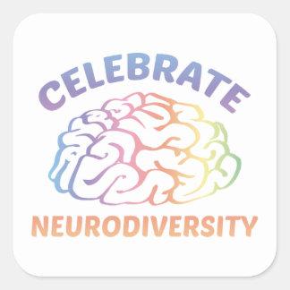 Neurodiversityを祝って下さい スクエアシール