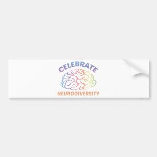 Neurodiversityを祝って下さい バンパーステッカー