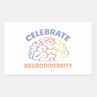Neurodiversityを祝って下さい 長方形シール