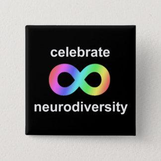 neurodiversityを祝って下さい 5.1cm 正方形バッジ