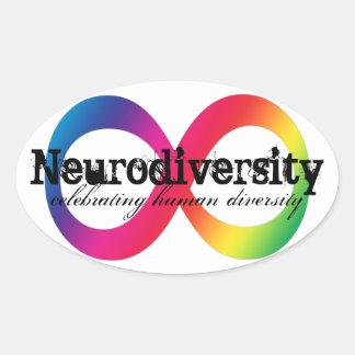 Neurodiversity 楕円形シール