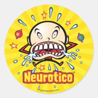 Neuroticoの泣き虫の漫画1.5インチのステッカー ラウンドシール