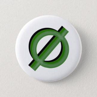 Neutrois 3dの緑 5.7cm 丸型バッジ