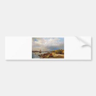 Nevaおよびピーターおよびポールの要塞の眺め バンパーステッカー