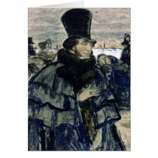 Nevaの堤防のアレキサンダーPushkin カード