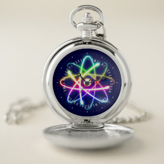 Never Trust in Time | Funny Science Gifts ポケットウォッチ
