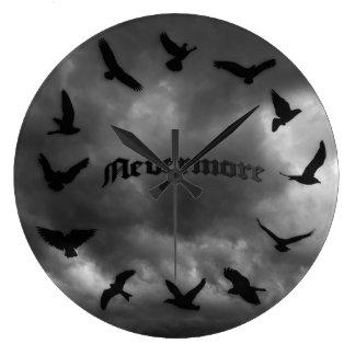 Nevermoreワタリガラスのノベルティの柱時計 ラージ壁時計