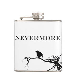 Nevermoreワタリガラスの詩のエドガー・アラン・ポーのデザイン フラスク