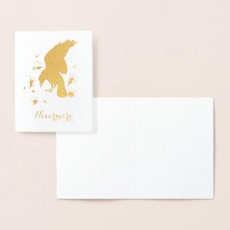 Nevermoreワタリガラスの金ゴールド 箔カード