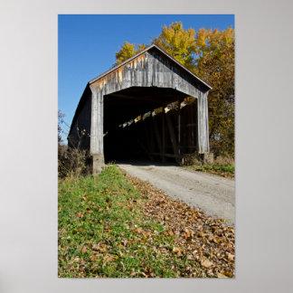 Nevinsの屋根付橋Parke郡インディアナ ポスター