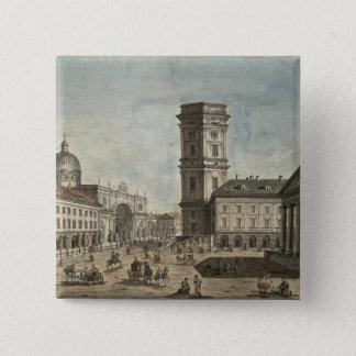 Nevsky Prospekt、セント・ピーターズバーグ1810年の眺め 5.1cm 正方形バッジ