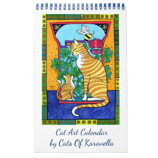 New Cat Art Calendar by Cats of Karavella カレンダー