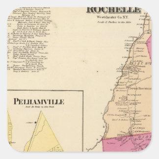 New Rochelleの町Pelhamville スクエアシール