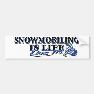 NEW-SNOWMOBILING-IS-LIFE-DIS バンパーステッカー