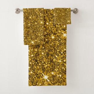 New sparkling Glitter Print バスタオルセット