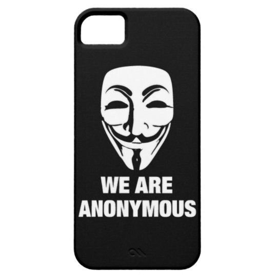 【New!!】WE ARE ANONYMOUS★iPhone Case iPhone SE/5/5s ケース