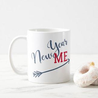 New year resolution funny typography reminder コーヒーマグカップ