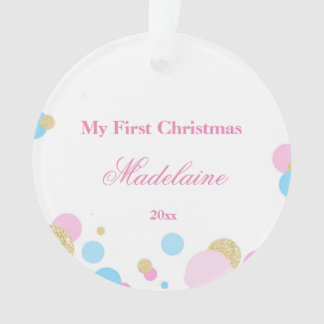 Newborn First Christmas Ornament Confetti オーナメント