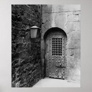 Newgateの刑務所へのドア ポスター