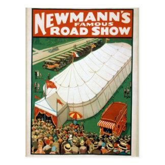 Newmannsの有名な巡回興行 ポストカード