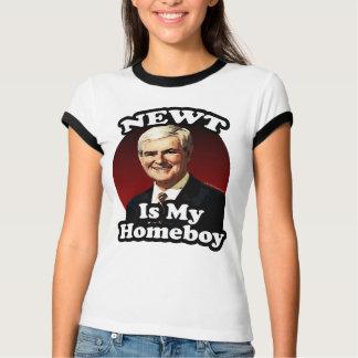 Newtは私の同郷人、政治おもしろいなギングリッチです Tシャツ