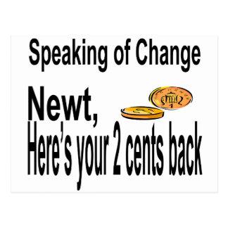Newt2Cents_Tee14x12 ポストカード