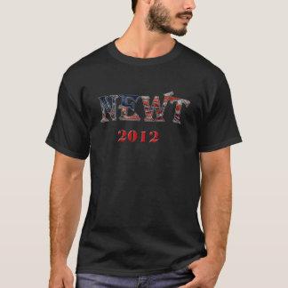 Newt 2012年-ニュート・ギングリッチの旗の背景 tシャツ