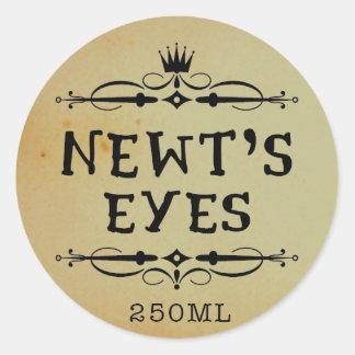 Newtsの目のヴィンテージの薬剤師のハロウィンのラベル ラウンドシール