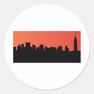 newyorkのスカイラインの喜劇的なスタイル ラウンドシール