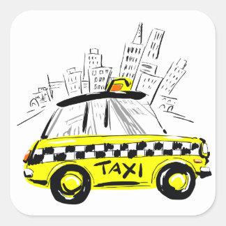 newyorkのタクシー スクエアシール