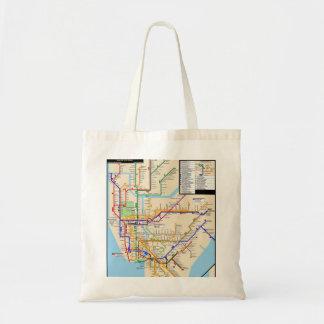 Newyorkの地下鉄のバッグ トートバッグ
