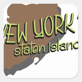 Newyorkの島 スクエアシール