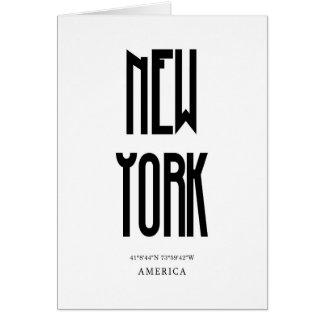 NewYorkの座標 カード