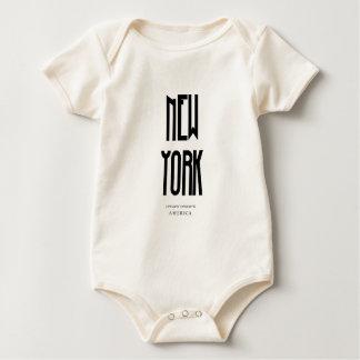 NewYorkの座標 ベビーボディスーツ