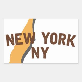 Newyork NY 長方形シール